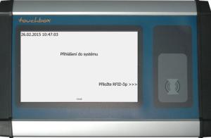 Touchbox - jeden z mnoha terminálů používaných ve výrobě